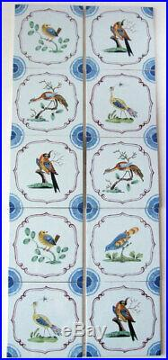 10 Antique Style Charming Original Vintage STOVAX English Delft Fireplace Tiles