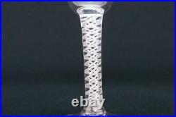 1765 Georgian Glass Air Twist Stem Conical Tall Shot Antique English Vintage Ret