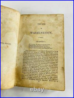 1847 George Washington by Weems antique leather book Freemasonry vintage collect