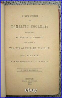 1862 ANTIQUE COOKBOOK Victorian Vintage Cookery RECIPES Pastry Game Beer Wine