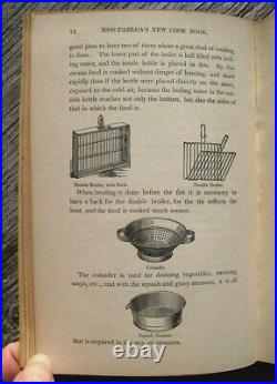 1881 VICTORIAN COOKBOOK Cookery Antique Vintage Recipes Parloa Pastry Kitchen