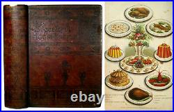 1882 ANTIQUE COOKBOOK Victorian Vintage Cookery Home Family HANDWRITTEN RECIPES