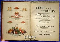 1896 Antique COOKBOOK Cookery VICTORIAN VINTAGE RECIPES Pastry CONFECTIONERY