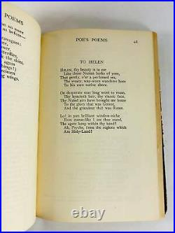 1922 Antique Victorian Edgar Allan Poe vintage book of poetry FIRST EDITION Beau