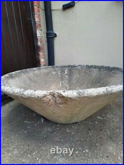1950s Large Concial Concrete Planter Willy Guhl Style Vintage/Original