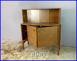 1960s English mid century vintage tall sideboard
