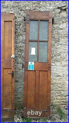 4 Industrial Vintage 1950's English Oak Warehouse Garage Workshop Doors Esavian