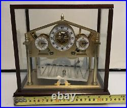 8 Day Miniature English William Congreve Rolling Ball Clock with Brass Wood Base
