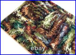 Abstract Artful English Original 70s MID Century Vintage Carpet Shag Rug No. 1