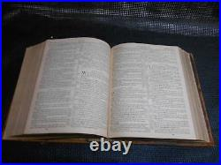 Antique 1874 ILLUSTRATED POLYGLOT FAMILY BIBLE Religious Prayer Book Old Vtg