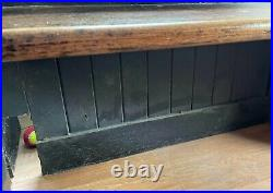 Antique English Church Pew Bench 1960mm wide Retro Vintage Boho Chic Dining Hall