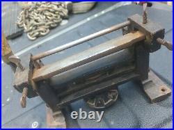 Antique English Hand Crank Leather Splitter nice vintage shape reuse repurpose