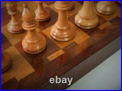 Antique Or Vintage English Folding Chess Board No Chess Pieces