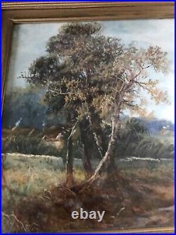 Antique Original Oil Painting English School C1890 Antique Vintage Old Landscape