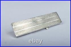 Antique Sterling Silver English Vintage Gentleman's Retractable Pocket Comb