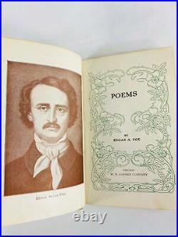 Antique Victorian Edgar Allan Poe vintage small book of poetry Poe's Poems 1902