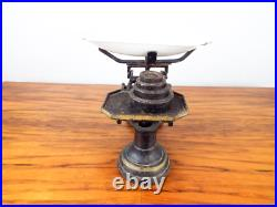 Antique Victorian English Primitive Kitchen Scales & Weights Vintage Cast Iron