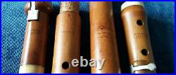 Antique Vintage Early English Wooden Boxwood 4 Key Flute By Potter In D
