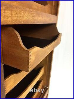 Antique Vintage Haberdashery Cabinet 48 Drawer Mid Century Original English Oak