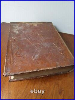 Antique Vintage Illustrated 1852 Old & New Testament 167 Year Old Holy Bible