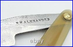 Antique Vintage R H ALEXANDER Straight Razor Real Old English 11/16+ Restored