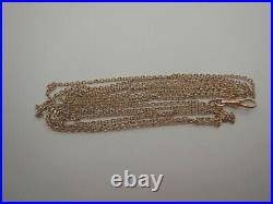 Antique Vintage Rolled Gold Chain Length 60inch, English 9 ct Gold Opera Chain