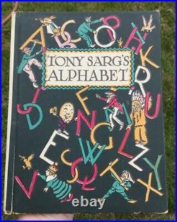 Antique Vtg 20s Tony Sarg's Alphabet ABC BOOK 1st Edition  RARE DUST JACKET