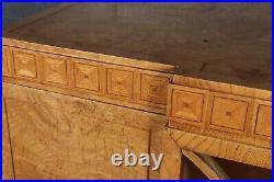 Art Deco Burr Elm Cabinet, antique, vintage, original, English, c1920