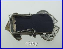 Art Nouveau English Miniature Mini Picture Frame Silver Antique Vintage