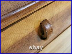 Arts and Crafts English Oak Vintage Chest of Drawers