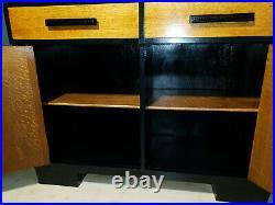 Beautiful Vintage 1920s Art Deco Large English Oak Sideboard Maximalist Retro