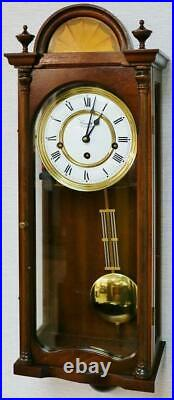 Beautiful Vintage Comitti Of London 8 Day Mahogany Westminster Chime Wall Clock