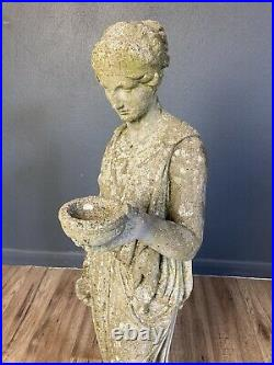 Beautiful Vintage Garden Statue Figure Loverly Weathered Colour