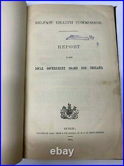 Belfast Health Commission Report 1908 Northern Ireland Vintage Antique History
