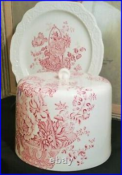 CROWN DEVON antique cake dessert ice cream cheese dome plate vtg english tea art
