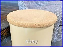 Crayonne England Vtg Modern Space Age Plastic Cork Stool Side Table Kartell
