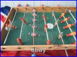 Distressed Vintage Old School English Wooden Table Soccer Football Game Art
