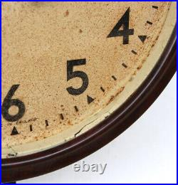 ENGLISH 1950s SMITHS Midcentury Vintage Industrial Factory Bakelite Wall Clock