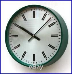 ENGLISH 70s MOD military Midcentury Vintage Retro Industrial Factory Wall Clock