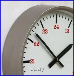 ENGLISH 70s Midcentury Vintage Retro Industrial Factory Post Office Wall Clock