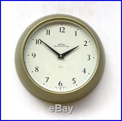 ENGLISH SMITHS1960s Post Office Midcentury Vintage Industrial Factory Wall Clock
