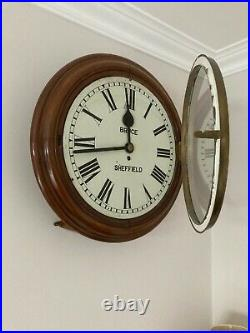 English Antique Eight Day Fusee Wall Clock