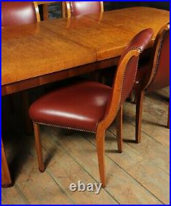 English Art Deco Dining Table And Chairs c 1930, vintage, original, antique