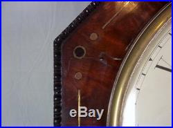 English Fusee 8 Day Octagonal Wall Clock Thomas Allen