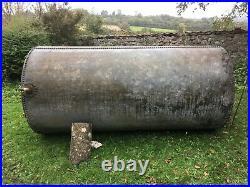 Extra large original vintage riveted galvanised steel water tank butt tower