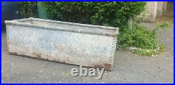 Galvanised Cattle Water Trough -Nicely weathed Planter, Vintage, 4ft