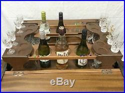 Harrods of London antique English art deco pop up bar liquor cabinet vintage