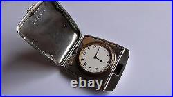 Heavy English Solid Antique Vintage Travel Pocket Watch RARE