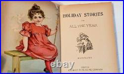 Holiday Stories Chatterbox Joyous Nursery Antique Book Vintage 1900 Lothrop