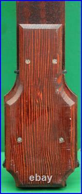 I Blatt Vintage English Flame Mahogany Bow Front Stick Barometer
